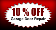 10% off garage door repair